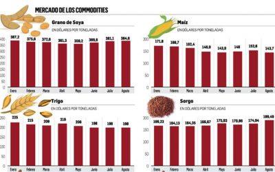 Mejoran los precios de los productos agrícolas que exporta Bolivia